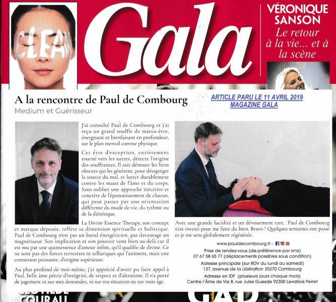 Publication d'un témoignage dans le magazine GALA